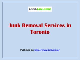I Am Junk-Junk Removal Services In Toronto