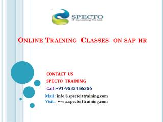 hr sap online training classes by real time experts at  specto