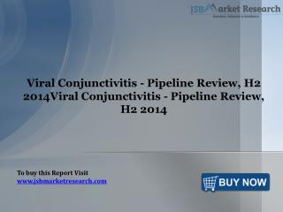 Viral Conjunctivitis Pipeline Review: JSBMarketResearch