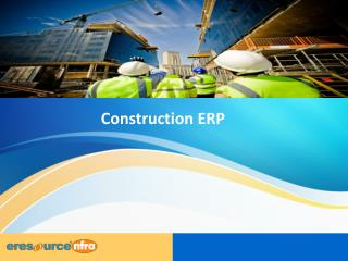 Construction ERP | eresource nfra ER
