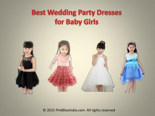 Special Designer Wedding Clothing for Children's