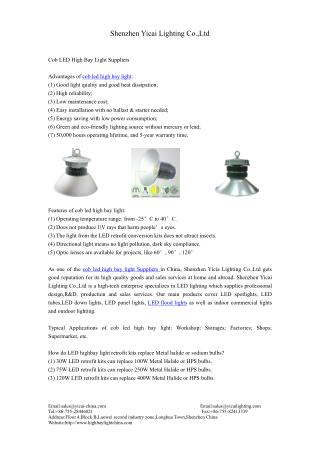 cob led high bay light Suppliers