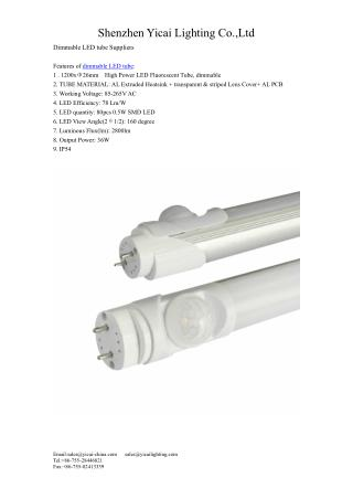 dimmable LED tube Suppliers