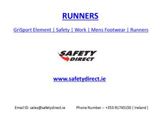 GriSport Element | Safety | Work | Mens Footwear | Runners | safetydirect.ie