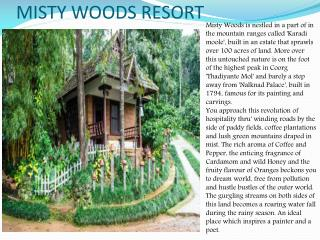Misty Woods Resort