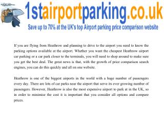 Bristol Airport car parking