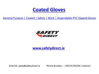 General Purpose | Coated | Safety | Work | Dependable Red PVC Dipped Gloves | SafetyDirect.ie