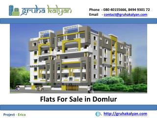 Flats for Sale in Domlur