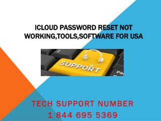 1 844 695 5369 Icloud Customer Support Number