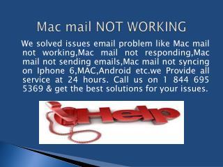 1 844 695 5369 mac mail tech support
