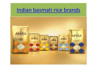 Basmati Rice Brands, Indian basmati rice brands
