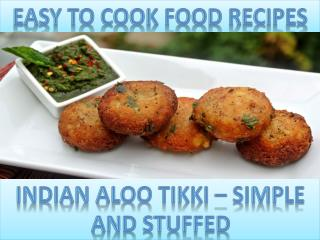 Indian Aloo Tikki – Simple and Stuffed