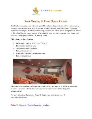 Rent meeting & event space rentals