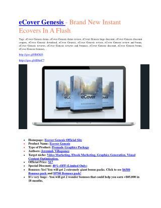 Ecover Genersis Review & (BIGGEST) jaw-drop bonuses