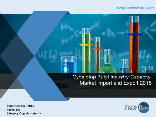 Global and Chinese Cyhalofop Butyl Industry Analysis, Market Production 2015