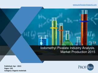 Global and Chinese Iodomethyl Pivalate Industry Share, Market Trends and Analysis 2015