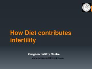 How Diet contributes infertility