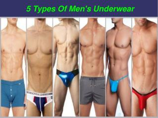5 types of men's underwear