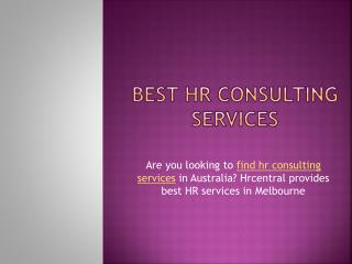 Best HR Consulting Services