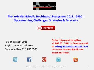 Mobile Healthcare Market (mHealth) Ecosystem: 2015 - 2030 - Opportunities, Challenges, Strategies & Forecasts