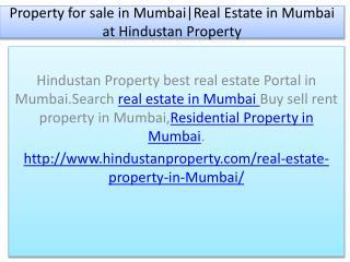 Property for sale in Mumbai|Real Estate in Mumbai at Hindustan Property