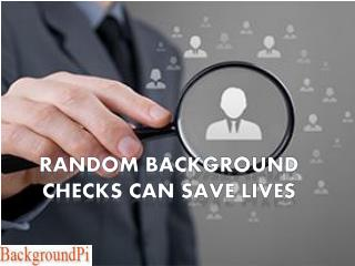 Random Background Checks Can Save Lives