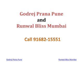 New Launch Godrej Prana & Runwal Bliss