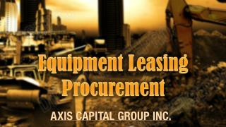Equipment Leasing Procurement