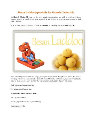 Besan Laddoo (speacially for Ganesh Chaturthi)