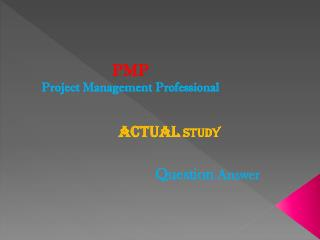 Pass4sure PMP Question Answer