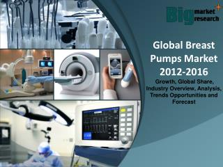 Global Breast Pumps Market 2012-2016 - Market Size, Trends, Growth & Forecast