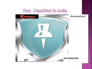 Post classified ads in India @8527271018