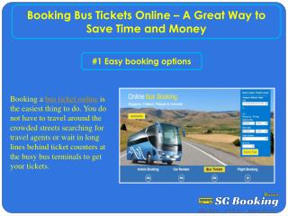 Booking Bus Tickets Online – A Great Way to Save Time and Money
