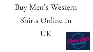 Buy Men's Western Shirts Online In UK