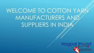 cotton sewing thread manufacturers in india