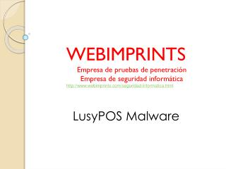 LusyPOS Malware