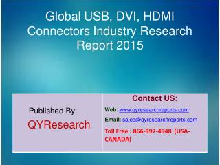 Global USB, DVI, HDMI Connectors Market 2015 Industry Size, Research, Analysis, Applications, Development, Growth, Insig