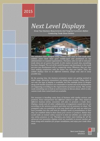 Know Your Business Requirements And Targeted Customers Before Conducting Trade Show Exhibits