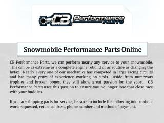 Snowmobile Performance Parts Online