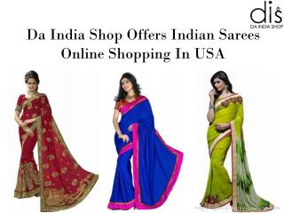 Indian Bridal Sarees Online Shopping in USA | Da India Shop