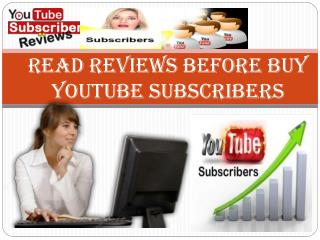 Purchase YouTube Subscribers � Lead to Great Success