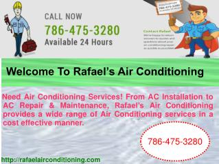 Welcome To Rafael's Air Conditioning