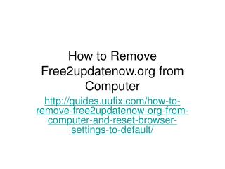 How to Remove Free2updatenow.org from Computer