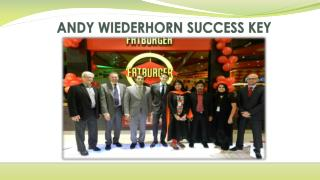 ANDY WIEDERHORN SUCCESS KEY