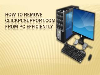 How to remove Clickpcsupport.com hijacker