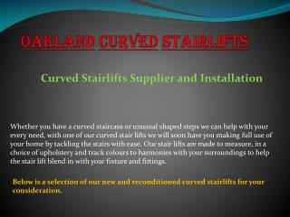 Oakland Curved Stairlifts