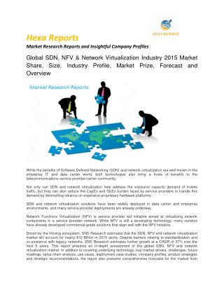 Global SDN, NFV & Network Virtualization Industry 2015 Market Share, Size, Industry Profile, Market Prize, Forecast and