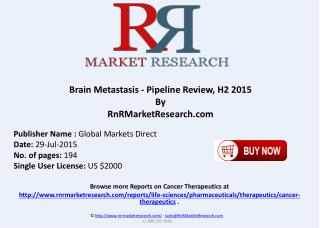 Brain Metastasis Pipeline Therapeutics Assessment Review H2 2015