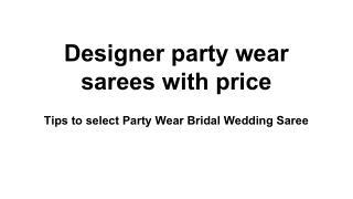 Buy Online Designer Sarees