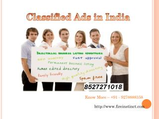 Classified ads in India @8527271018